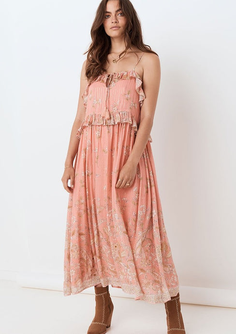 Spell & the Gypsy Collective | Hendrix Strappy Maxi Dress | Dusty Pink