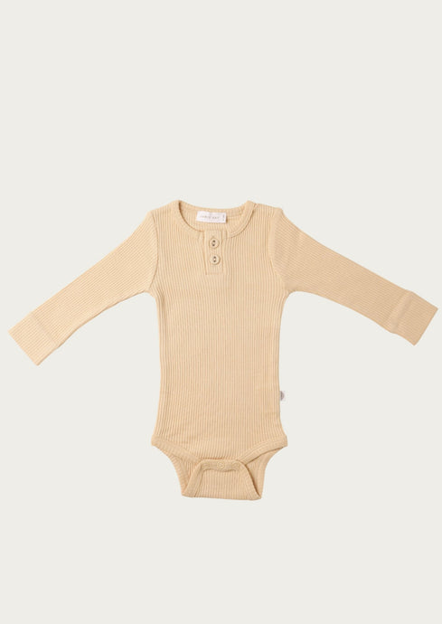 jamie kay ribbed bodysuit in honey peach
