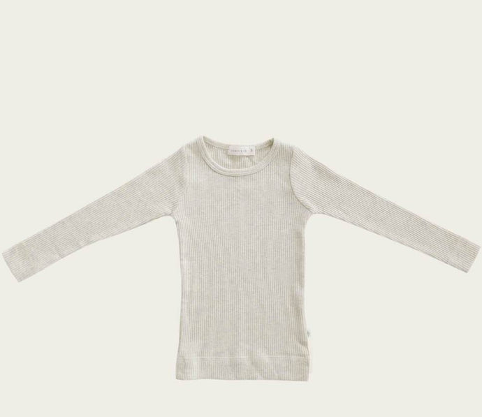 Jamie Kay | organic cotton long sleeve top | oatmeal