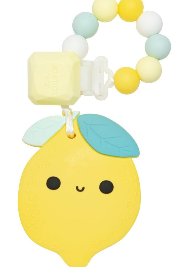 Loulou LOLLIPOP | Lemon Silicone Teether Set