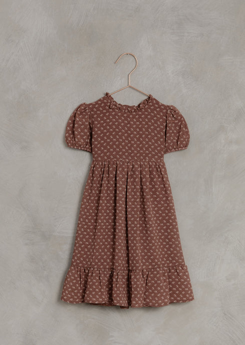 Noralee French Flower Wendy Dress in Wine