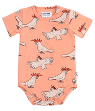 carlijnq | short sleeve bodysuit | pink sunset parrot