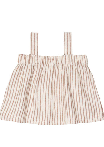 Go Gently Nation | Paper Bag Top | Hazelnut Stripe