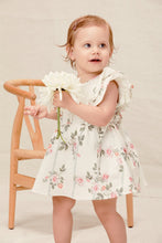 Lil Lemons | Rose Garden Baby Dress | Ivory