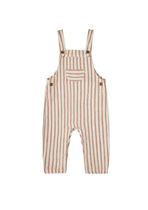 Rylee & Cru Striped Baby Overalls in Natural Amber