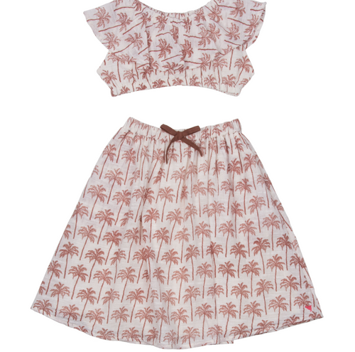 Pink Chicken | Loretta Set | umber palm trees