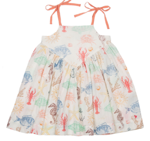 Pink Chicken | Monroe Dress | sea creatures