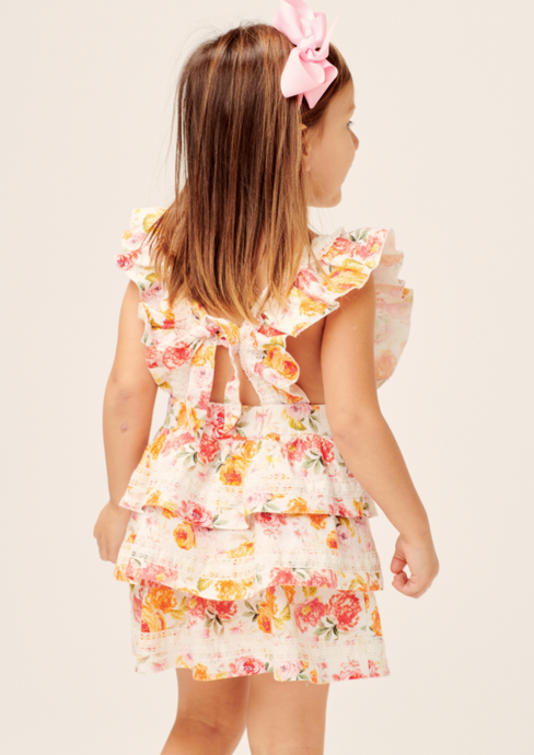 Lil Lemons | Peony Toddler Dress | Coral