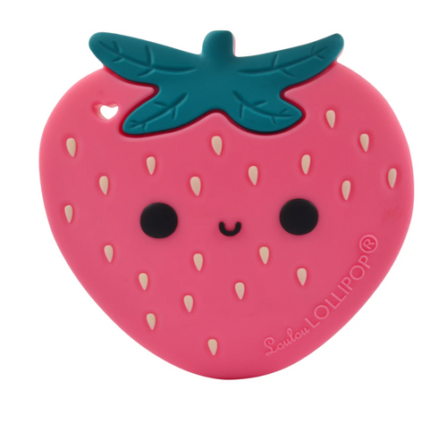 Loulou LOLLIPOP | Strawberry Silicone Teether