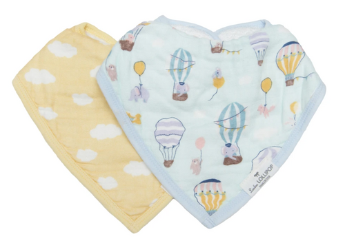 Loulou LOLLIPOP  | muslin bandana bib set | up up away
