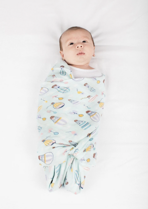 Loulou LOLLIPOP  | bamboo muslin swaddle | up up away