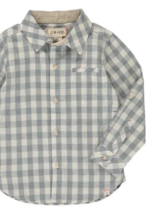 Me & Henry | Woven Tee | grey plaid PREORDER