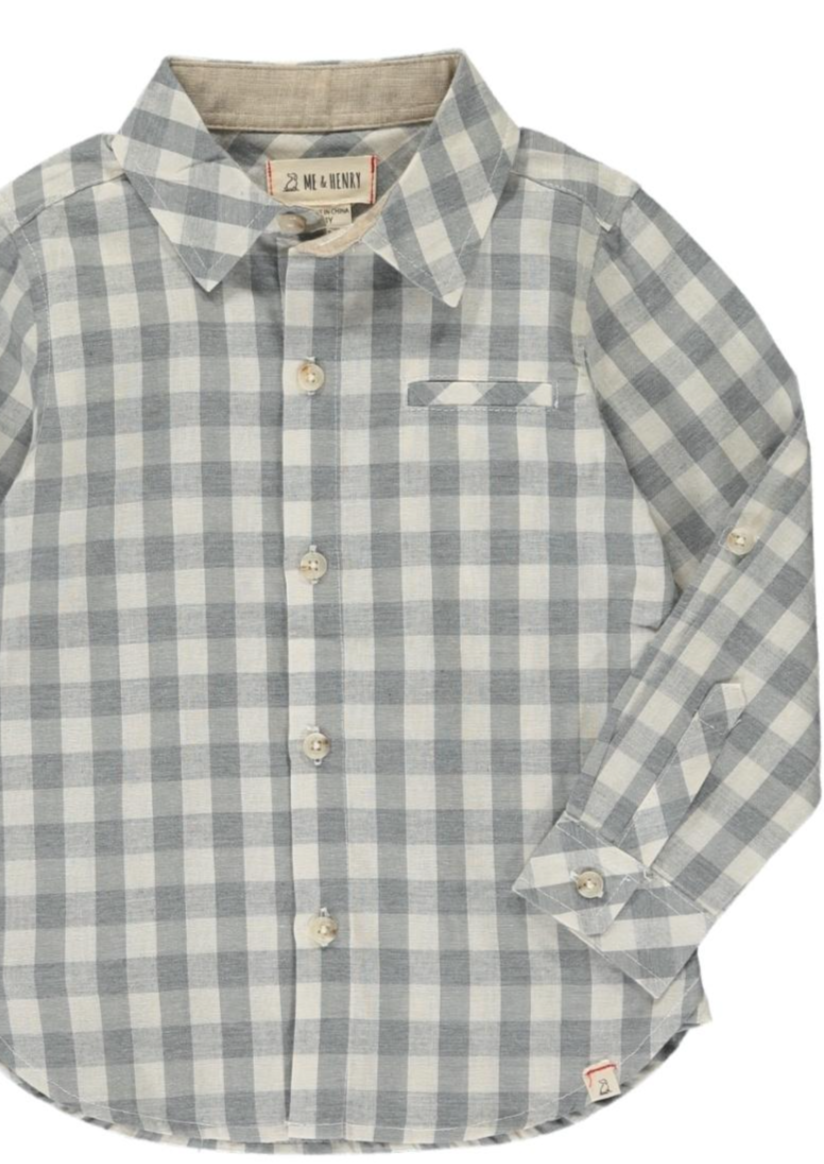 Me & Henry | Woven Tee | grey plaid