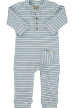 Me & Henry | Striped Jersey Romper | Blue Stripe