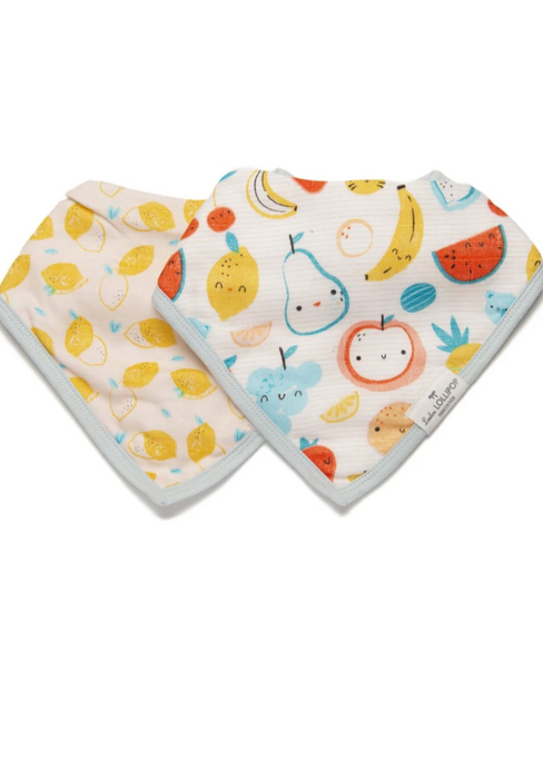 Loulou LOLLIPOP  | Luxe Muslin Bandana Bib Set | Cutie Fruits