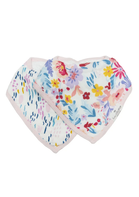 Loulou LOLLIPOP  | Muslin Bandana Bib Set | Light Field Flowers