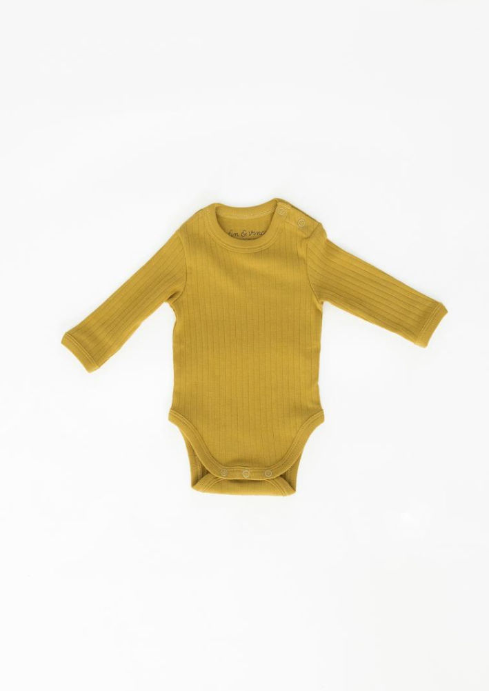 Fin & Vince Long Sleeve Onesie Chartreuse