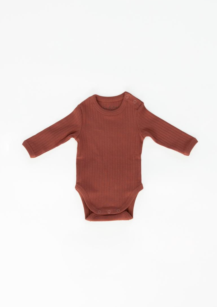 Fin & Vince Long Sleeve Onesie Gingerbread