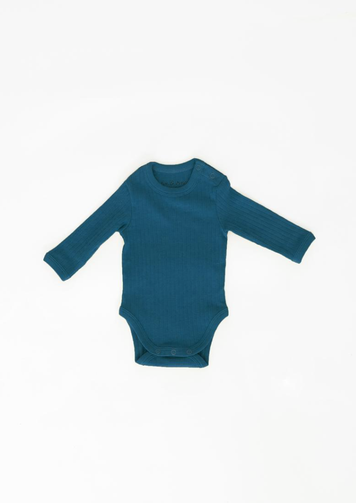 Fin & Vince Long Sleeve Onesie Royal Blue