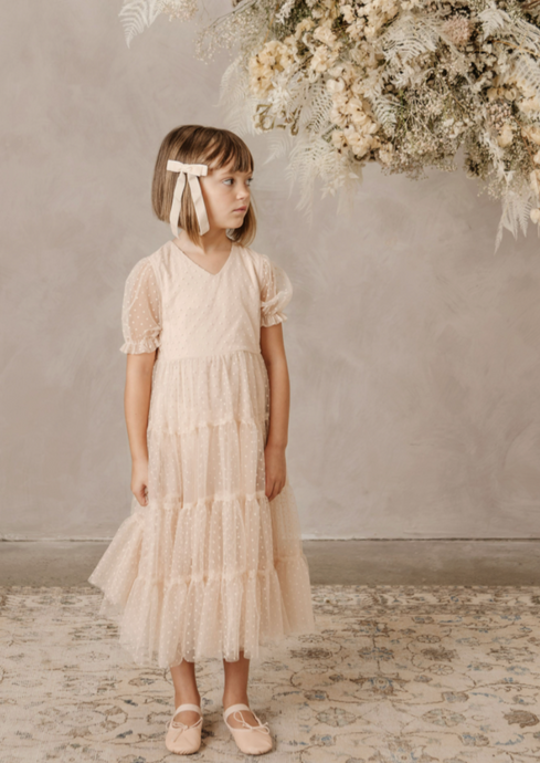 Noralee Dottie Dress in Light Peach