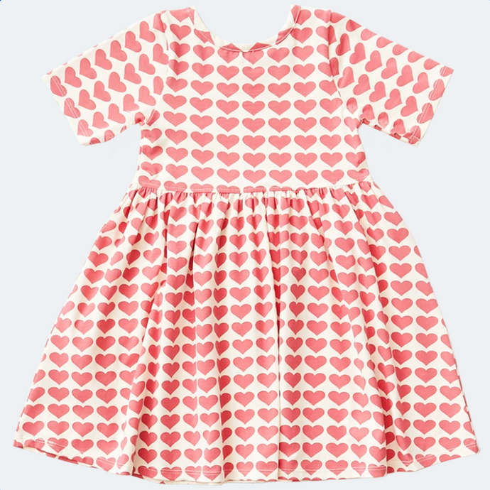 Pink Chicken Steph Dress Rose Hearts