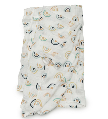 Loulou LOLLIPOP  | Bamboo Swaddle | Neutral Rainbow