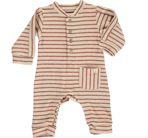 Me & Henry | Brown Striped Romper