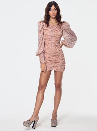 for love and lemons | la villette mini dress | Champagne