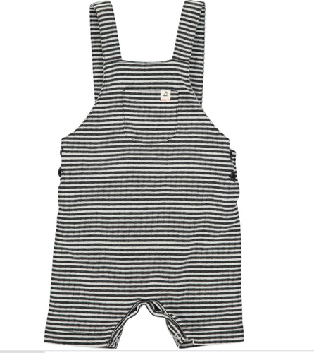 Me & Henry | jersey dungarees | black/white