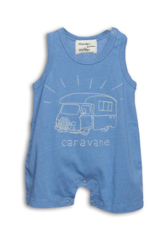 Wander & Wonder | Baby Romper | Denim blue