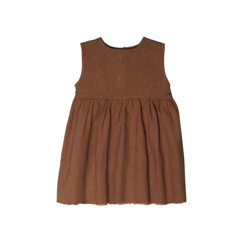 Go Gently Nation | Sleeveless Prairie Dress | Hazelnut