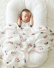 Loulou LOLLIPOP  | Bamboo Muslin Swaddle | Pink Peony