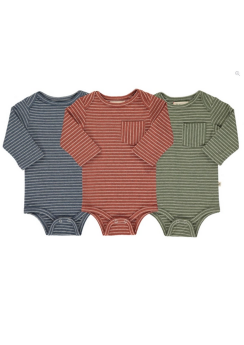 Me & Henry | triple pack onesies | multi stripe