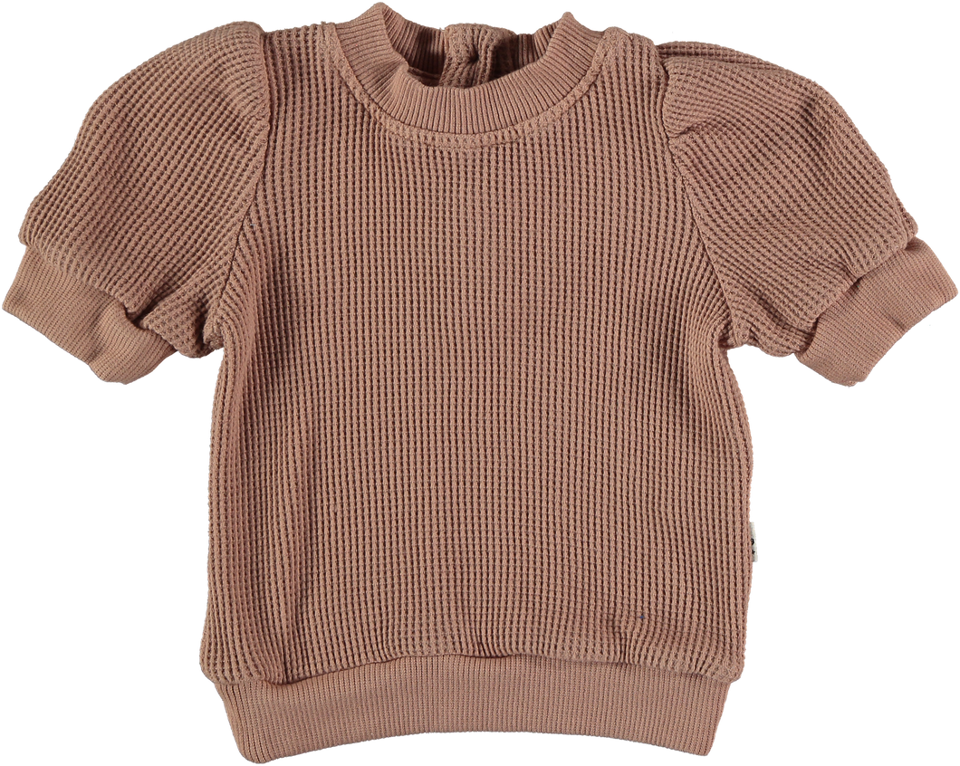 My Little Cozmo | Organic Cotton Waffle Top | Terra Cotta