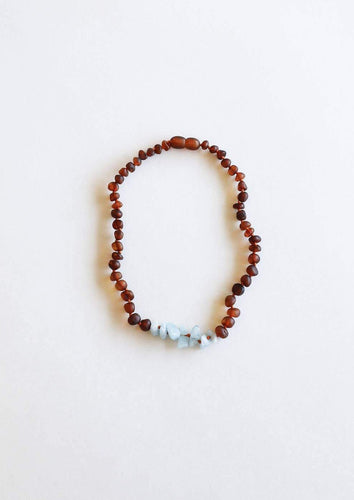 CanyonLeaf - Kids: Raw Cognac Amber + Amazonite || Necklace