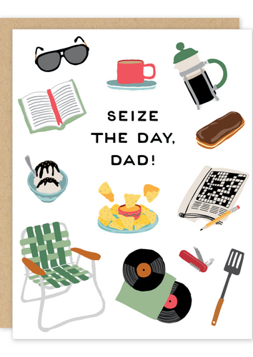 Party of One - Seize the Day Dad Father's Day Card