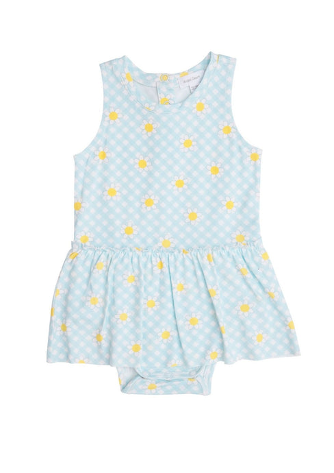 Angel Dear Bodysuit with Skirt Gingham Daisy