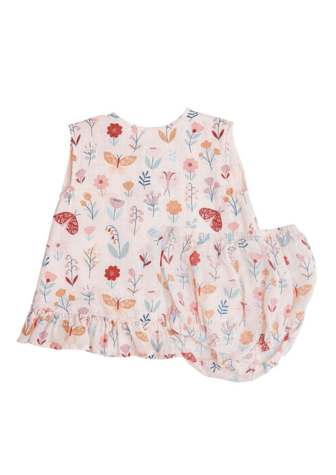 Angel Dear Ruffle Top and Bloomer Butterfly Garden