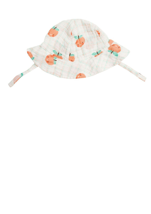 Angel Dear Sunhat Plaid Peaches