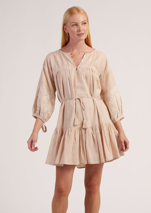 Cleobella Asteria Mini Dress Blush