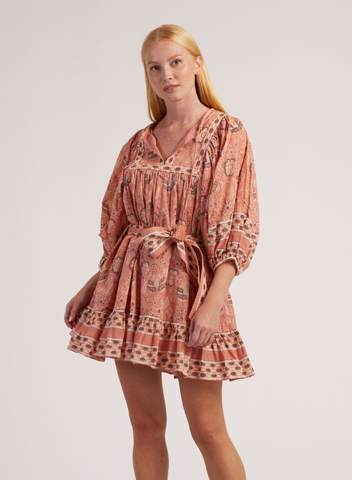 Cleobella Magdalena Mini Dress Cherry Blossom