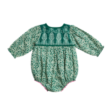 Pink Chicken | Jade Bubble | Green Mixed Floral/Block Print