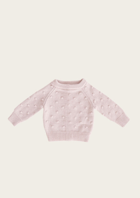Jamie Kay Dotty Knit in Old Rose Fleck