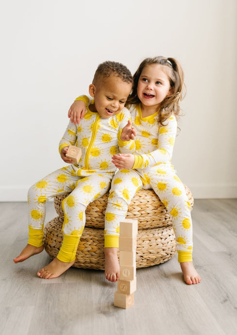 Little Sleepies Two Piece Bamboo Pajama Set Sunshine