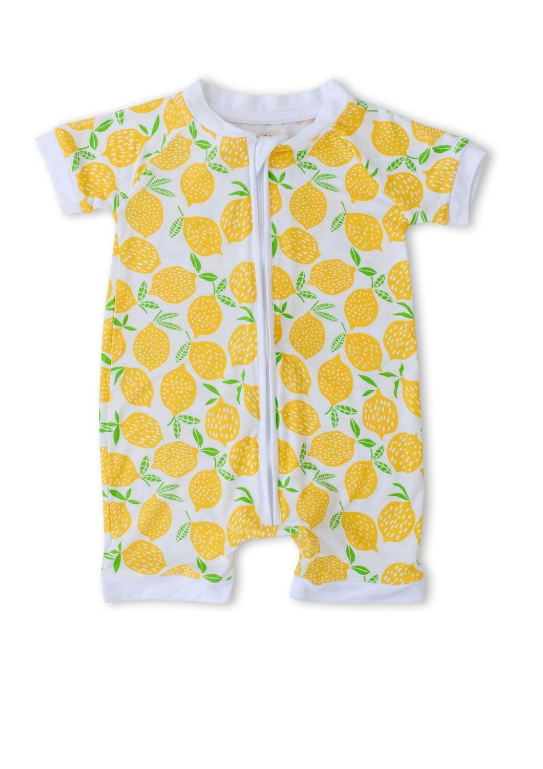 Little Sleepies Bamboo Shorty Zippy Lemons