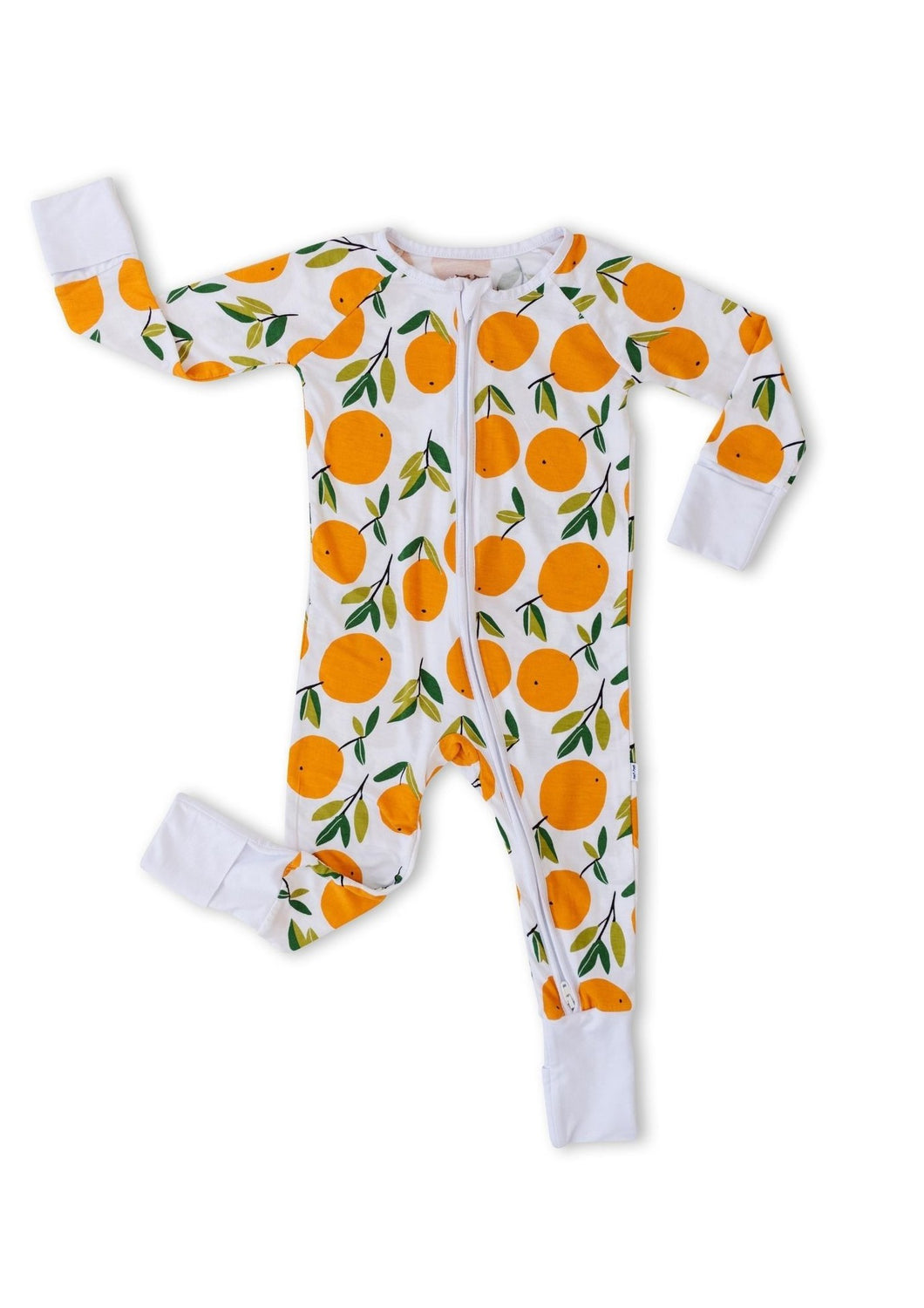 Little Sleepies Bamboo Zippy Clementines