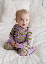 Little Sleepies Bamboo Zippy Purple Crocodiles