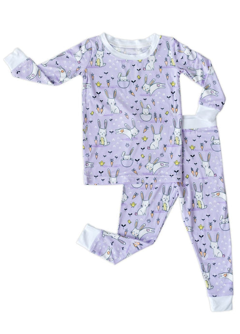 Little Sleepies Lavender Bunnies Two-piece bamboo pajama