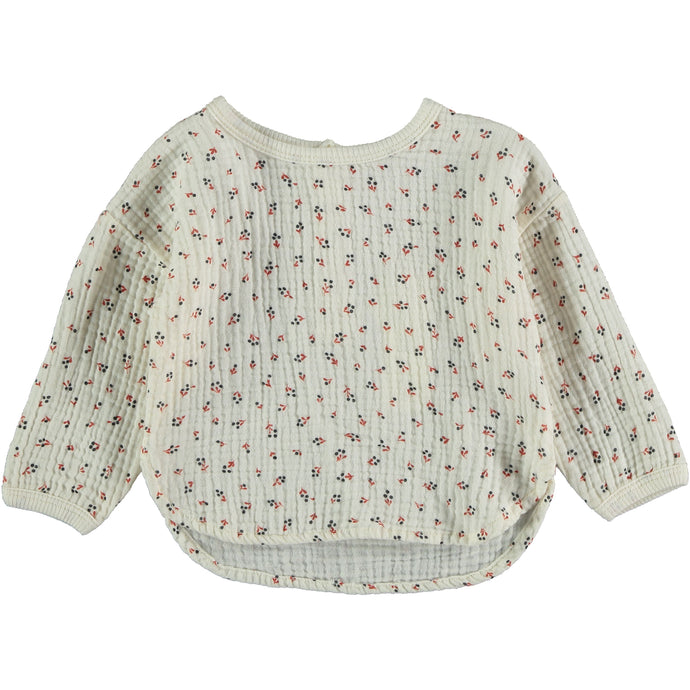 My Little Cozmo | Organic Cotton Liberty Blouse | Ivory