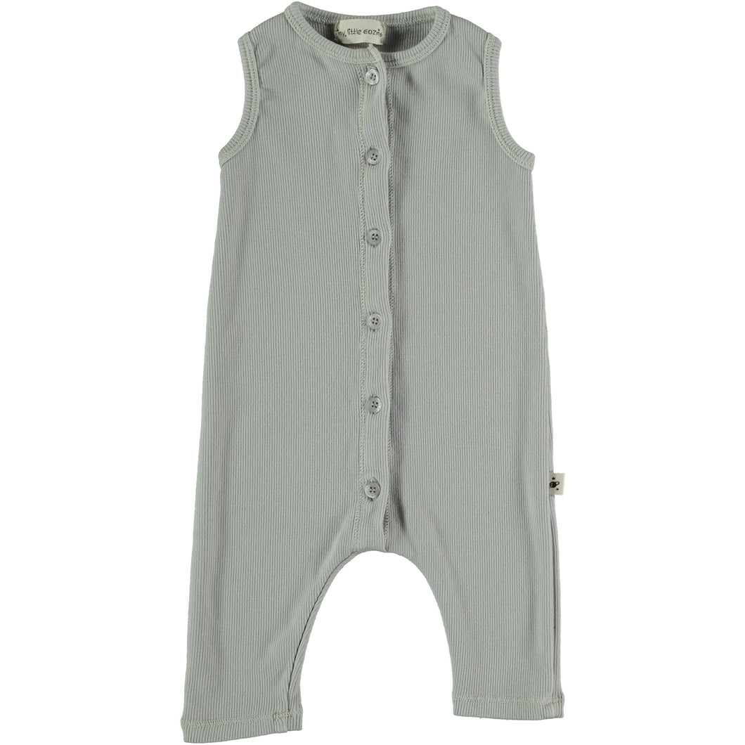 My Little Cozmo | Organic Cotton Ribbed Jumpsuit | Grey